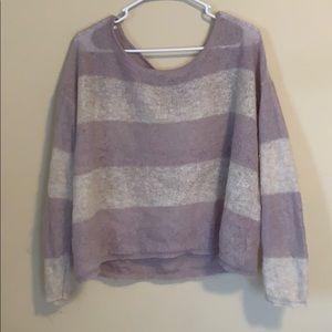Free People Striped Oversized Sweater